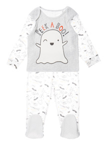 Grey Ghost Halloween Pyjama Set (0-24 months)