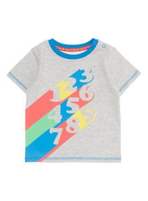 Boys Grey Numbers Tee (0 - 24 months)
