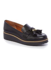 Premium Black Platform Loafer