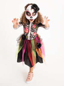 Halloween Day Of The Dead Skeleton Costume (3-12 Years)