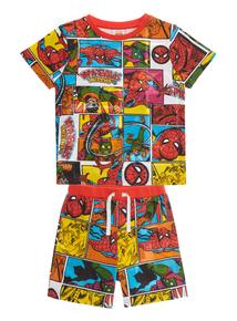 Boys Multicoloured Spiderman Disney Pyjama Set (1-12 years)