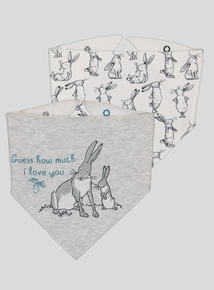 Guess How Much I Love You Grey & White Bibs 2 Pack (one size)