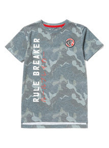 Khaki Rule Breaker Camo Print T-Shirt (3-14 years)