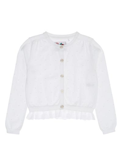 7fc8de774b Kids Girls White Textured Frill Cardigan (3-12 years)