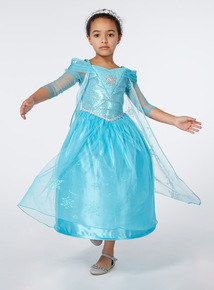 Kids Blue Disney Frozen Elsa Sound And Light Costume (2-12 years)