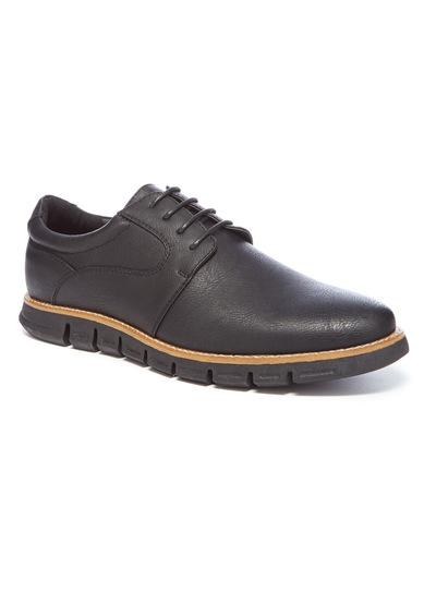 Sole Comfort Black Blucher Shoe