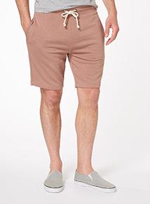Pink Drawstring Jersey Shorts