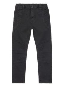 Black Biker Trousers (3-14 years)