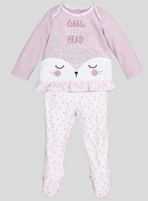 Lilac Fox Sleepy Head Pyjamas (0-24 months)