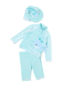 Blue Whale Sunsafe Set (0-24 months)
