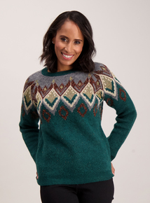 Green Sparkle Fairisle Jumper
