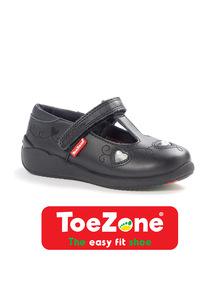 Black ToeZone Heart Gem Shoes