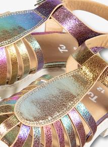 Multicoloured Metallic Fisherman Sandals (6 Infant - 4)