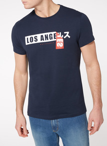 Navy 'Los Angeles' T-Shirt