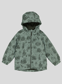 Green Bug Print Cagoule Coat (9 months - 6 years)