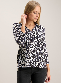 Monochrome Animal Print Shirt
