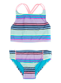 Multicoloured Stripe Bikini (5 - 14 years)