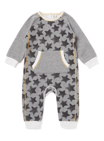 Grey Star Sweat Romper (Newborn-12 months)