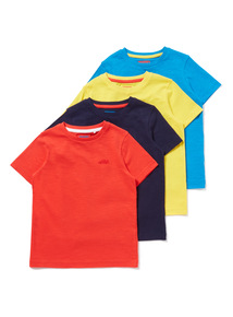 4 Pack Multicoloured Plain T-shirts (9 months-6 years)
