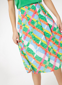 Check Print Full Skirt