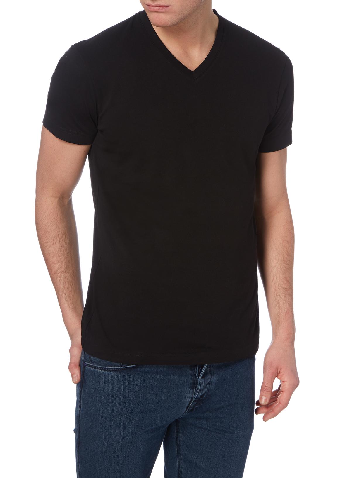 Black t shirts v neck - Black V Neck T Shirt