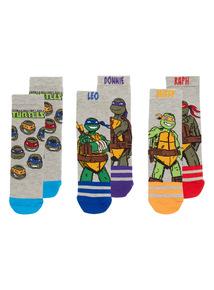 Multicoloured TMNT Socks 3 Pack