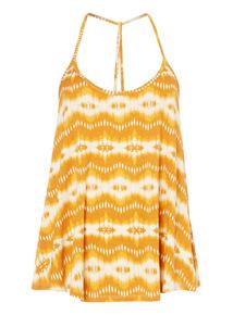 Yellow Ikat Cami Pyjama Top