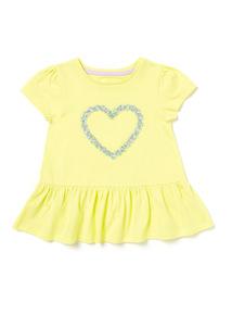 Yellow Heart T-shirt (9 months-6years)