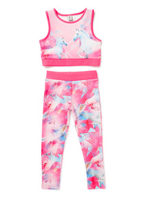 2 Piece Pink Unicorn Dance Set (3-14 years)