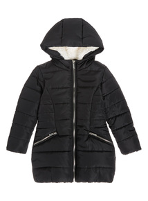Black Quilted Jacket (3-12 years)