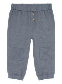 Boys Grey Herringbone Trousers (0-24 months)