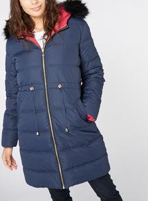 Navy Reversible Padded Coat