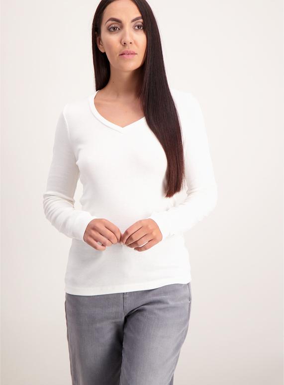 e4846a293313 Womens Cream V-Neck Long Sleeve T-Shirt | Tu clothing