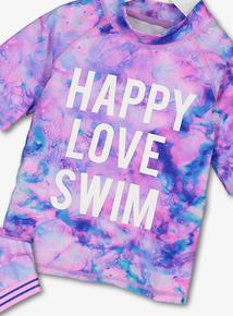 Multicoloured Marble Print Swim Set (4-14 Years)