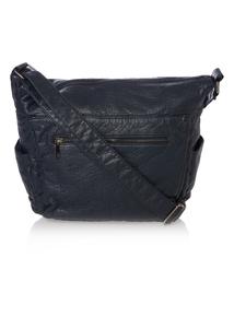 Navy Washed Shoulder Bag