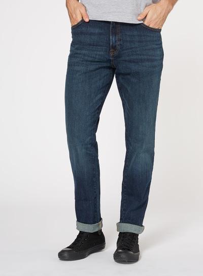 Mid Denim Wash Tapered Jeans
