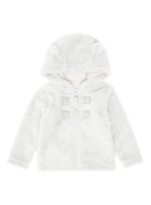 Grey Shaggy Fleece Hoody (0-12 months)