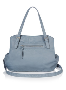 Light Blue Washed PU Bag