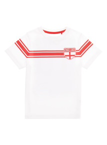 White Active Football England Top (3 - 12 years)