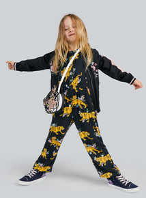 Black Tiger Print Jumpsuit (3-14 years)