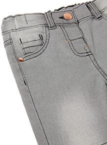 Grey Denim Biker Jeans (9 months-6 years)