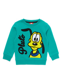 Green Disney Pluto Sweatshirt  (9 months-6 years)