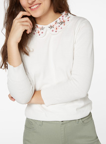 Embroidered Collar Jumper