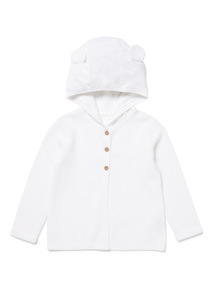 White Knitted Cardigan (Newborn -12 months)