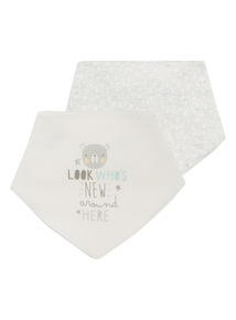 Bear Hugs Hanky Bibs 2 Pack