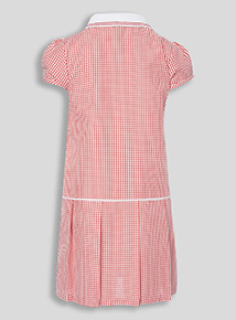 Red Sporty Gingham Dress (3-12 years)