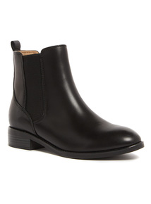 Black Sole Comfort Leather Chelsea Boots