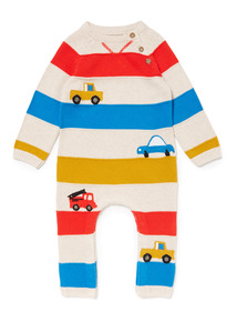 Blue Stripe Knitted Romper (0-24 months)