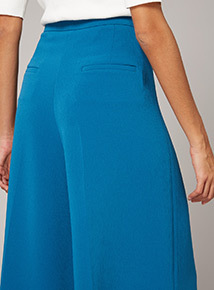 Premium Cropped Wide Leg Trousers