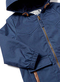 Navy Hooded Jacket with Front Pockets (0-24 months)